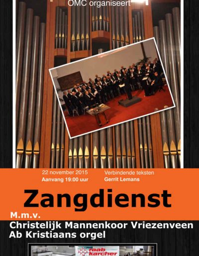 Zangdienst CMK 22 nov 2015